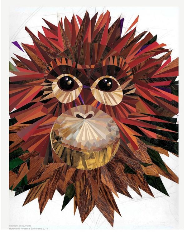 Original collage artwork for auction Please RT it's for orangutan charity http://t.co/aRExBzxTEf http://t.co/S8QTpfsp3b