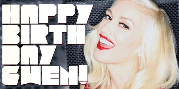Happy birthday to our amazing bandmate @gwenstefani!  Love - Tom, Adrian & Tony http://t.co/GPYwC9Ph9x