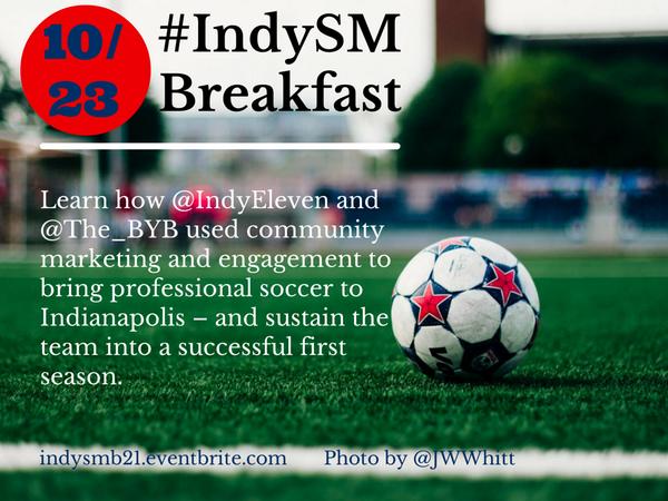 40 tix left for Oct #IndySM Breakfast feat: @tomdunmore (@IndyEleven) & @masonzbt (@The_BYB) http://t.co/f2hHcUmMzs http://t.co/9xQd3M1Ig0