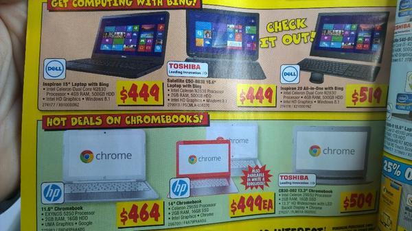 RT @kpatton: Windows laptops cheaper than chromebooks... http://t.co/9yQ0Q2ZCj6