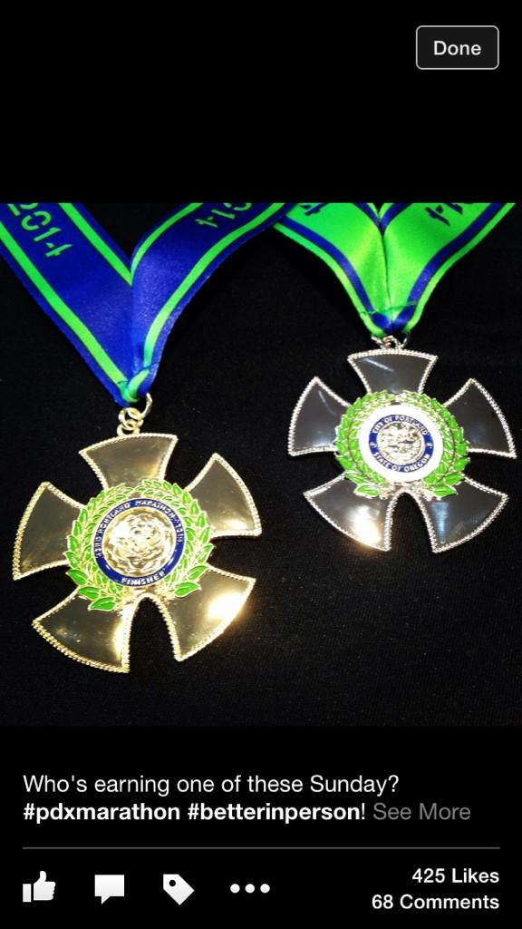 Who's earning one of these Sunday? #pdxmarathon #bestmedals http://t.co/rJVW2cvDSv