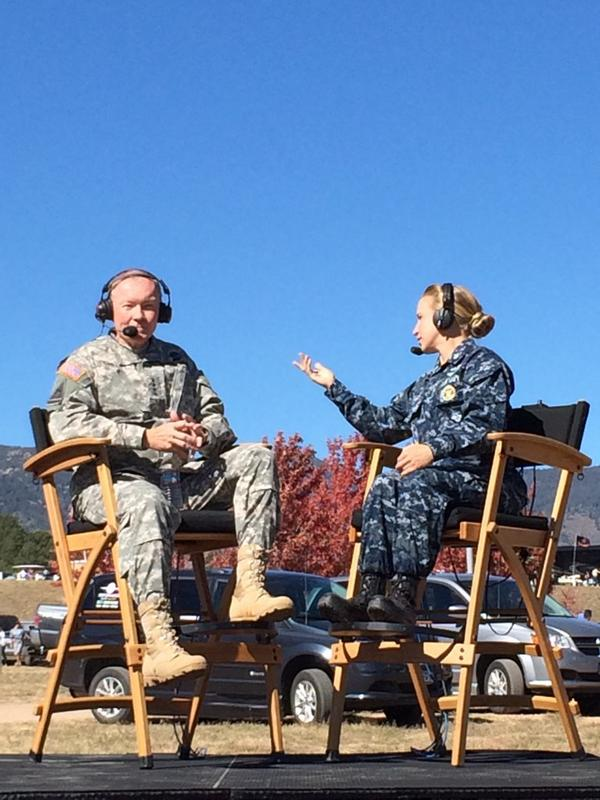 .@thejointstaff Chairman Gen. Martin Dempsey thanks all those who made #WarriorGames2014 a reality http://t.co/pHlNrgjHI8