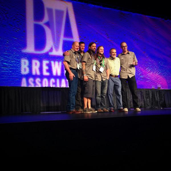 Thumbs up for our Gold Medal for the #HellsKeep! #GABF2014 #squatters #utahcraftbeer http://t.co/fSb3ztIUno