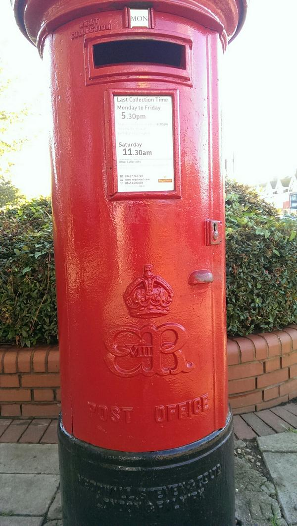 Ooh, nice Edward VIII there RT @nimbos: Spotted this outside Wanstead tube station. Very rare. http://t.co/LdKWf7JjCw