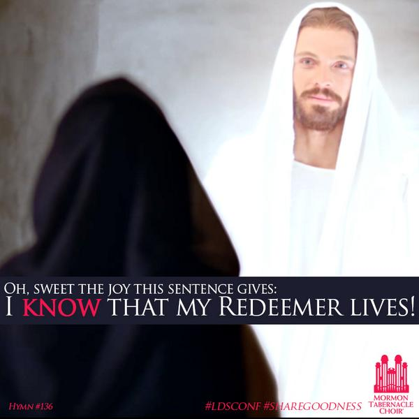 """I Know That My Redeemer Lives"" - http://t.co/ONjs59W2FW #LDSConf  #ShareGoodness http://t.co/oLj0uXDKZD"