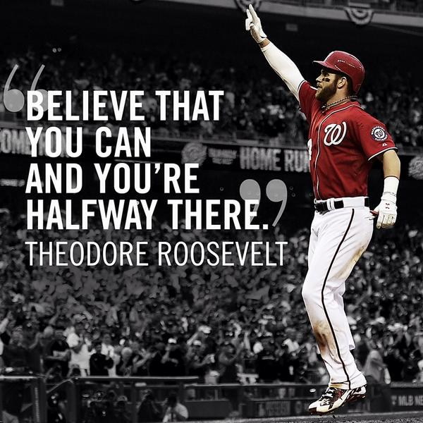 """""""Believe that you can and you're halfway there."""" #LetsGo #NothingButOctober http://t.co/lNwxXhw0zm"""