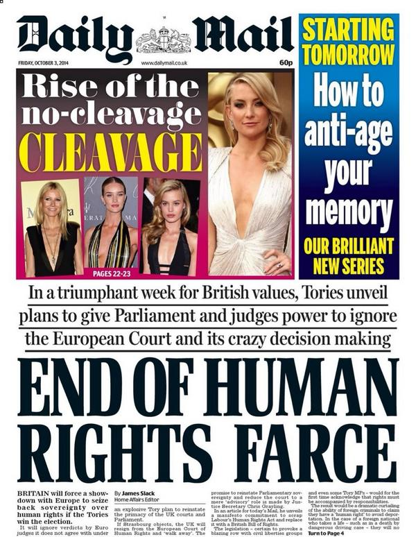 """@jpublik: How the Mail wants to end YOUR ""Human Rights farce"", but demands Human Rights for the Mail #Hypocrisy http://t.co/x5tgKrlHk1"""