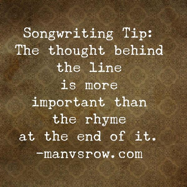 Songwriting tip: http://t.co/uzrlxh1pJP