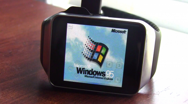 Some wonderful bastard put Windows 95 on his Samsung Gear Live (Android Wear) http://t.co/ovub8EATKR http://t.co/y5Xh93GhSN