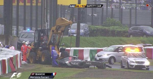 Aquesta és la foto on suposadament ha sortir BIanchi de pista... Espero que no sigui res!!! De tot cor... http://t.co/DwUikfVSAu