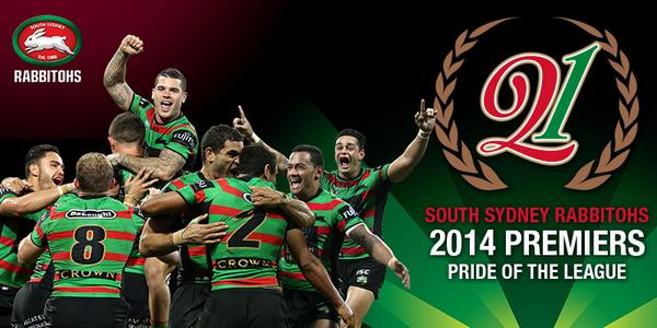 WE ARE THE 2014 NRL PREMIERS!!! #PrideoftheLeague #GoRabbitohs #NRLGF http://t.co/xG0oAS0MkL