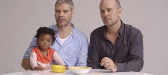This new @Cheerios commercial featuring a gay couple and their adopted daughter made me teary: http://t.co/dunEt7aaUK http://t.co/wPLzw6bXqn