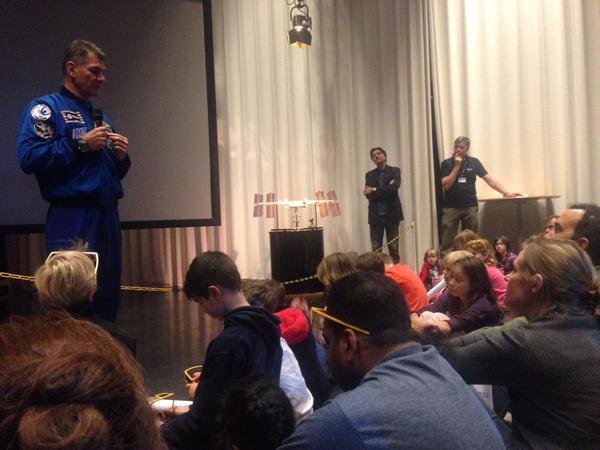 Plenty of kids at #OpenESTEC. Great #STEM education event with astronauts explaining life on #ISS. #WSW2014 http://t.co/WaI8KTSYto