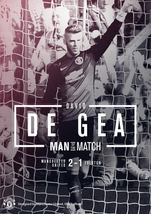 Congratulations to @D_DeGea, a convincing winner of our Man of the Match award, picking up over 40,000 of your votes. http://t.co/7KlCLnGn3o