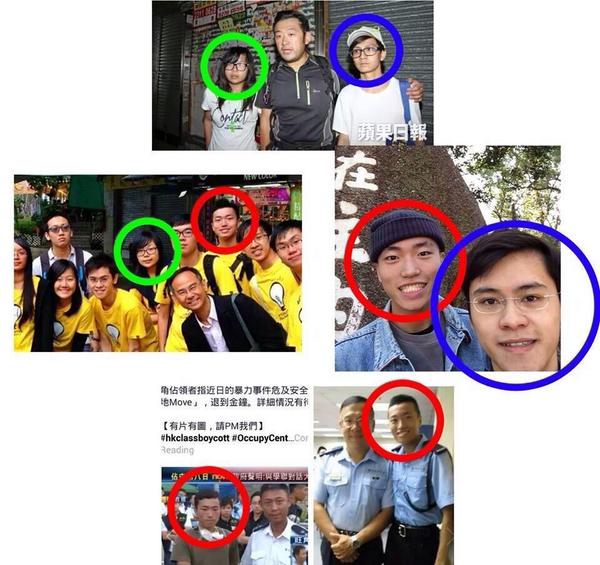 "Circled 3 reps who led retreat meant. The one in red is auxiliary police. #OccupyHK #hk ""@singsingarsing: http://t.co/qTQkMmjiF9"""