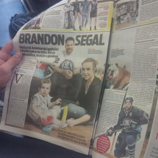 Family article today in local News paper. Surprised ani and Frankie sat down long enough to take the picture #zagreb http://t.co/ZS17LhVIKu
