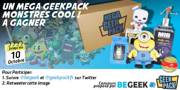 Un MEGA GeekPack Monstres Cool à gagner RT ce tweet + Follow @geekpackfr & @Begeek ! http://t.co/GB4KguOixf