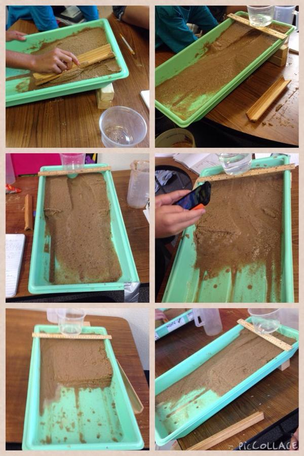 """Exploring stream tables to see if slope has an effect on the rate of erosion!  It's a resounding """"yes!"""" #reaganrays http://t.co/ToJ2tvZrNV"""