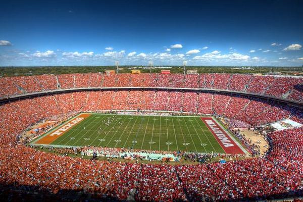 The Red River Rivalry Showdown begins now… #BeatTexas http://t.co/dsNdtdrkai