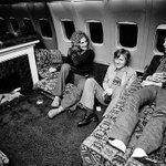RT @HistoryInPics: Hanging out next to a fireplace on Led Zeppelin's private plane http://t.co/1jTGu0nnKv