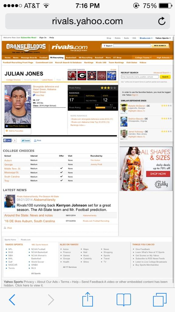 My prayers go out to Julian & his family one of the top recruits in the nation.. He committed suicide RIP