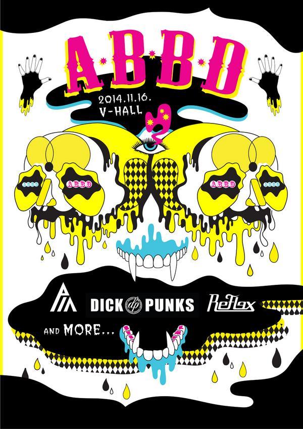 """20141116  """"A.B.B.D"""" CONCERT  WITH DICKPUNKS & REFLEX & MORE! http://t.co/hpFZ11PvkN"""