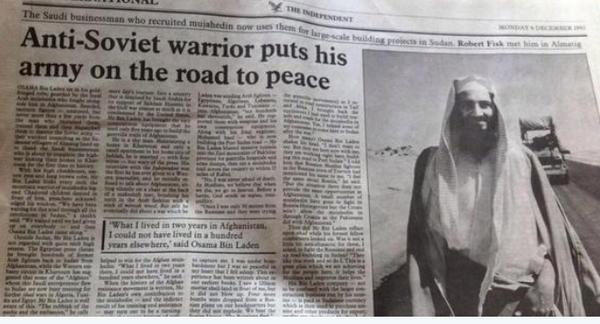 Bin Laden - goodie then baddie. Syrian rebels - good now bad. Saddam - good then bad. Gaddafi - bad, good, bad... http://t.co/dGrfKqqGly