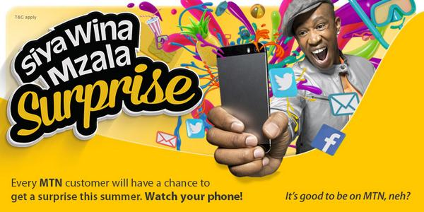 #SiyaWinaMzala! Every MTN customer will have a chance to get a surprise this summer! RT this to let your tweeps know! http://t.co/gneRxPiKlD