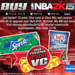 Buy your copy of #NBA2K15 along with a bag of Chex Mix at Walmart and receive 7500 VC! http://t.co/n9Ua108q2p