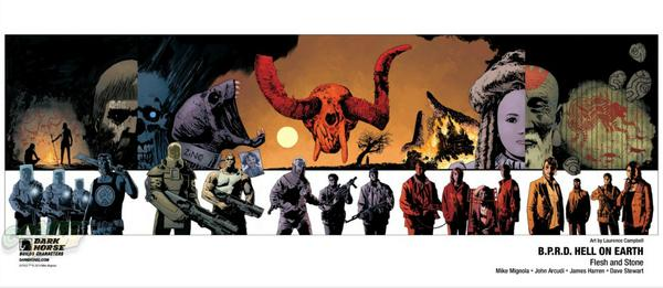 BPRD poster which shows 5 interlinking covers to be given away at NYCC by Dark Horse- http://t.co/ElSwFrOP1X