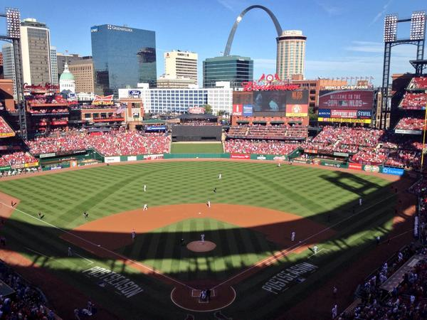 Game time from Busch Stadium: #STLCards Shelby Miller (10-9, 3.74) vs. #Dodgers Clayton Kershaw (0-1, 10.80). http://t.co/7NzcbTBoDN