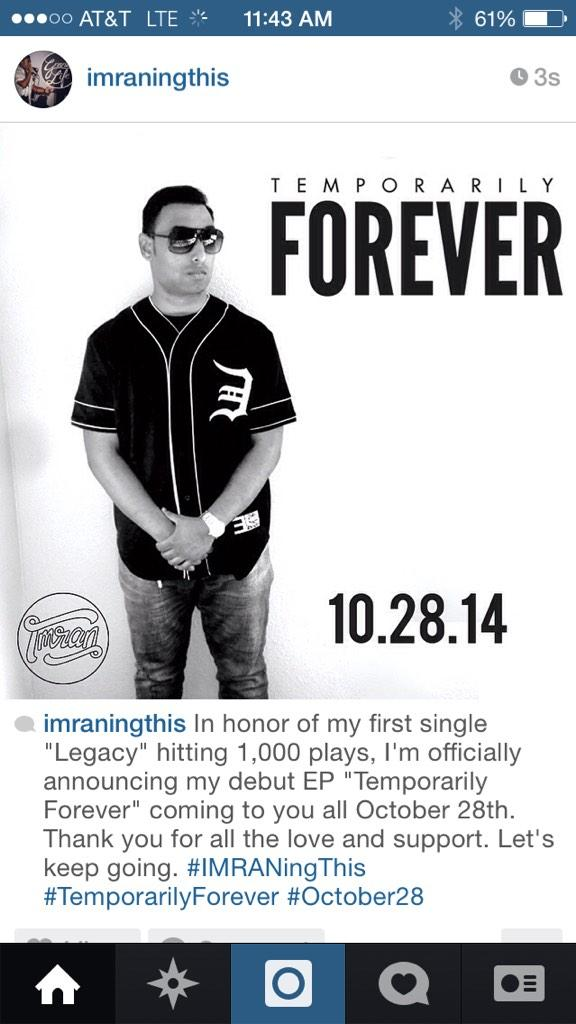 October 28th. #IMRANingThis #TemporarilyForever http://t.co/HMWGD1Dp7F