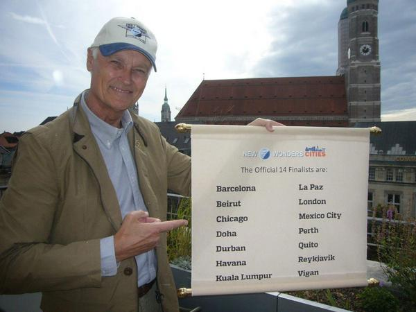 Bernard Weber, Founder-President of #New7Wonders, revealing the 14 qualifying cities: http://t.co/vSDZmtV4IG http://t.co/ikd5iGxsBv