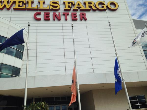 flyers sixers flags at half staff at wellsfargoctr to remember