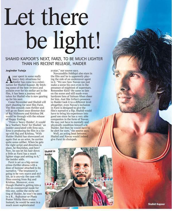 "Chutzpahhhh! ""@gaganabh: Let there be light : @shahidkapoor #Farzi http://t.co/uHKZ247OB0 @kritisanon @krishdk @ErosNow"""