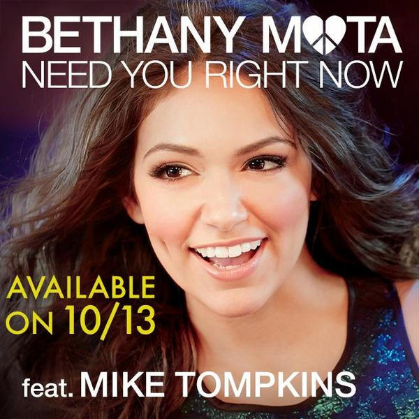 By the way, you guys arent ready for how amazing @BethanyMota voice is!!!!! http://t.co/NF5BmFp8Li