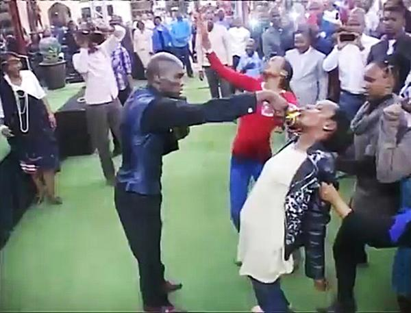 This preacher got congregation to drink petrol after claiming he turned it into fruit juice: http://t.co/CMZsn6pjvp http://t.co/xM4VloaYRy