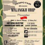 "RT @mahasiswamlg: COMING SOON!! @DempoFairXXXVII Dempo FairXXXVII Present ""Malangku Urip"" featuring Sandhy Sondoro 1 November 2K14. http://t.co/wrYzClOk2t"