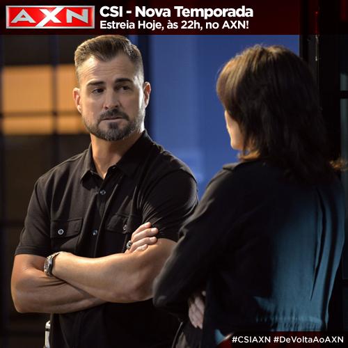 Uma bomba. Uma ligação. Um assassino impiedoso. A nova temporada de #CSIAXN estreia hoje, às 22h!  #DeVoltaAoAXN http://t.co/LrHUZaLHuz