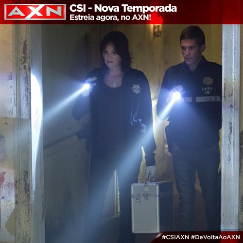 Certos crimes não podem ser resolvidos por qualquer policial. A nova temporada de #CSIAXN AGORA! #DeVoltaAoAXN http://t.co/NUwNmZpDQ2