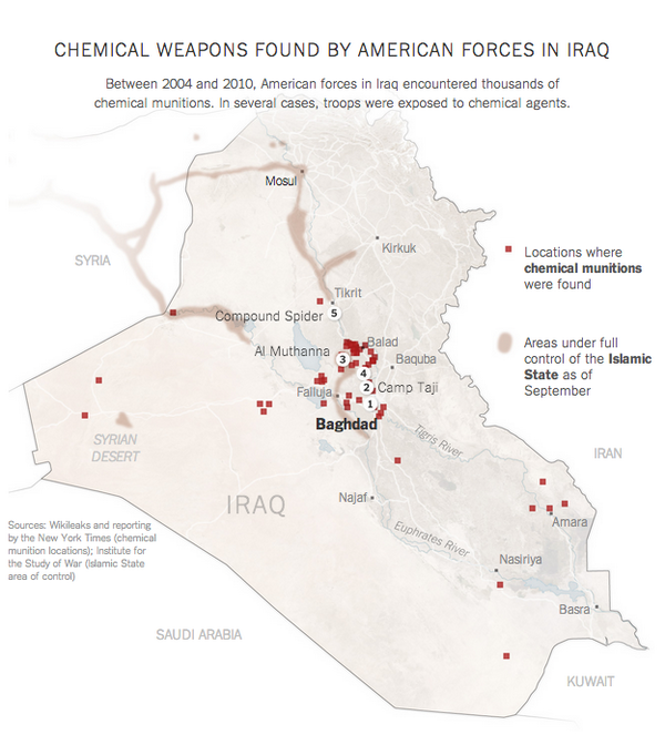 During the Iraq War, U.S. troops found thousands of chemical weapons. The war's untold story: http://t.co/RXFoxYFGsM http://t.co/vRYz41OX2A