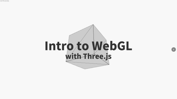 Outstanding introduction to #webgl with #threejs by @davidscottlyons. http://t.co/XI3LgrvRS1 http://t.co/Tsbay4szng