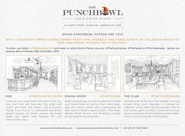 Londoners listen up: one of Mayfair's oldest pubs @ThePunchBowlLDN is reopening soon: #Enternow to win a dinner for 4 http://t.co/B8yuoKzle5