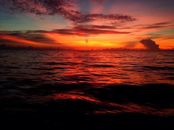 Sunrise on seawater #beach #mybeach #sunrise #ocean http://t.co/uclbKE7gJr