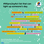 Share your giving act with a photo and caption with #wiproJoyAct & get a chance to be featured on our earthain page.