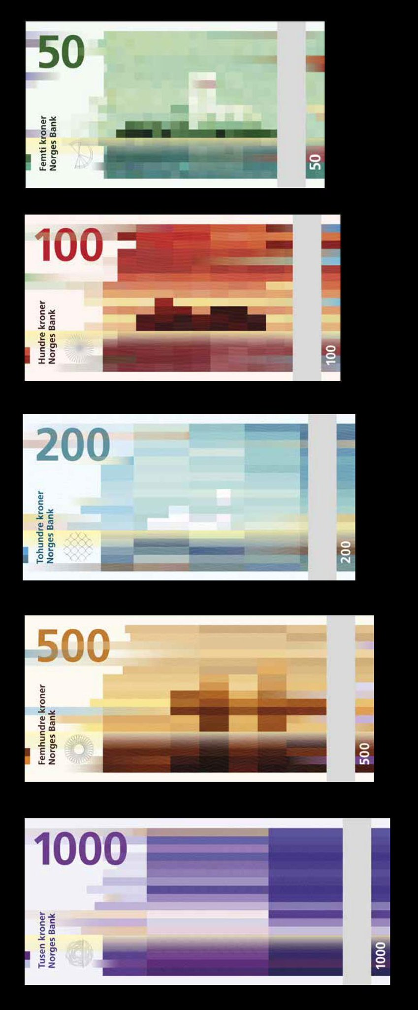 The new Norwegian currency design. Yes, really. http://t.co/HpL3ClpRj5