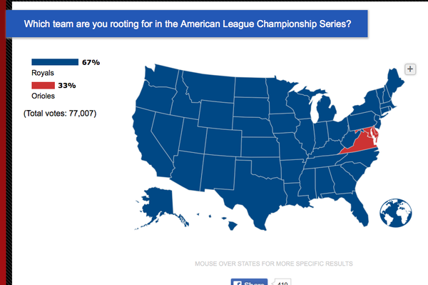 Nearly all 50 states are rooting for the #Royals: http://t.co/mb38Bg8tJ4 #BlueOctober http://t.co/V8sKLMuRfH