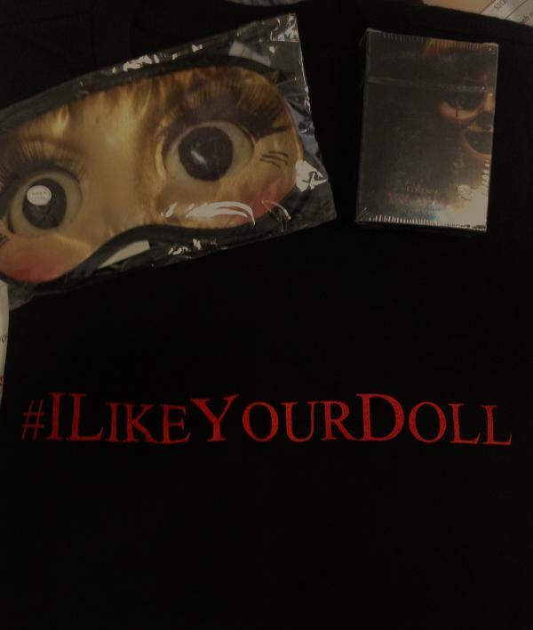 Skyrock  (@SkyrockOfficiel): Sortie d'#Annabelle au ciné ! 1 lot de goodies (Tshirt, cartes) à choper. RT pour gagner. #vousnetespasprêtspourelle. http://t.co/dyVaqmWMIz