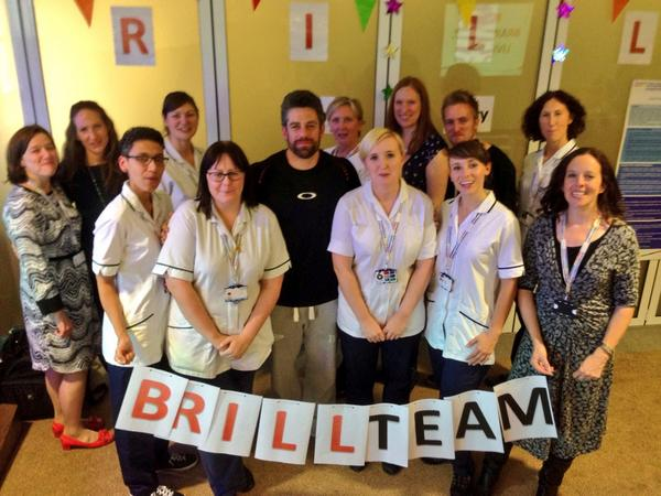 Me & BRILL (Brain Injury Living Life) team at QMC supporting children with brain injuries - 6:30pm on @bbcemt 2nite http://t.co/ZPP2c4gYFJ