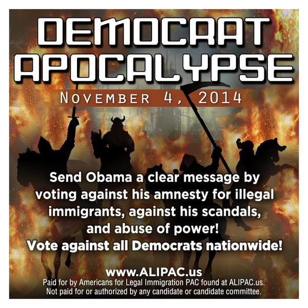Join ALIPAC.us alerts to help us throw every #Obama & #amnesty supporter out of office in 27 days #TCOT #CCOT #PJNET http://t.co/z52u2jqjPh